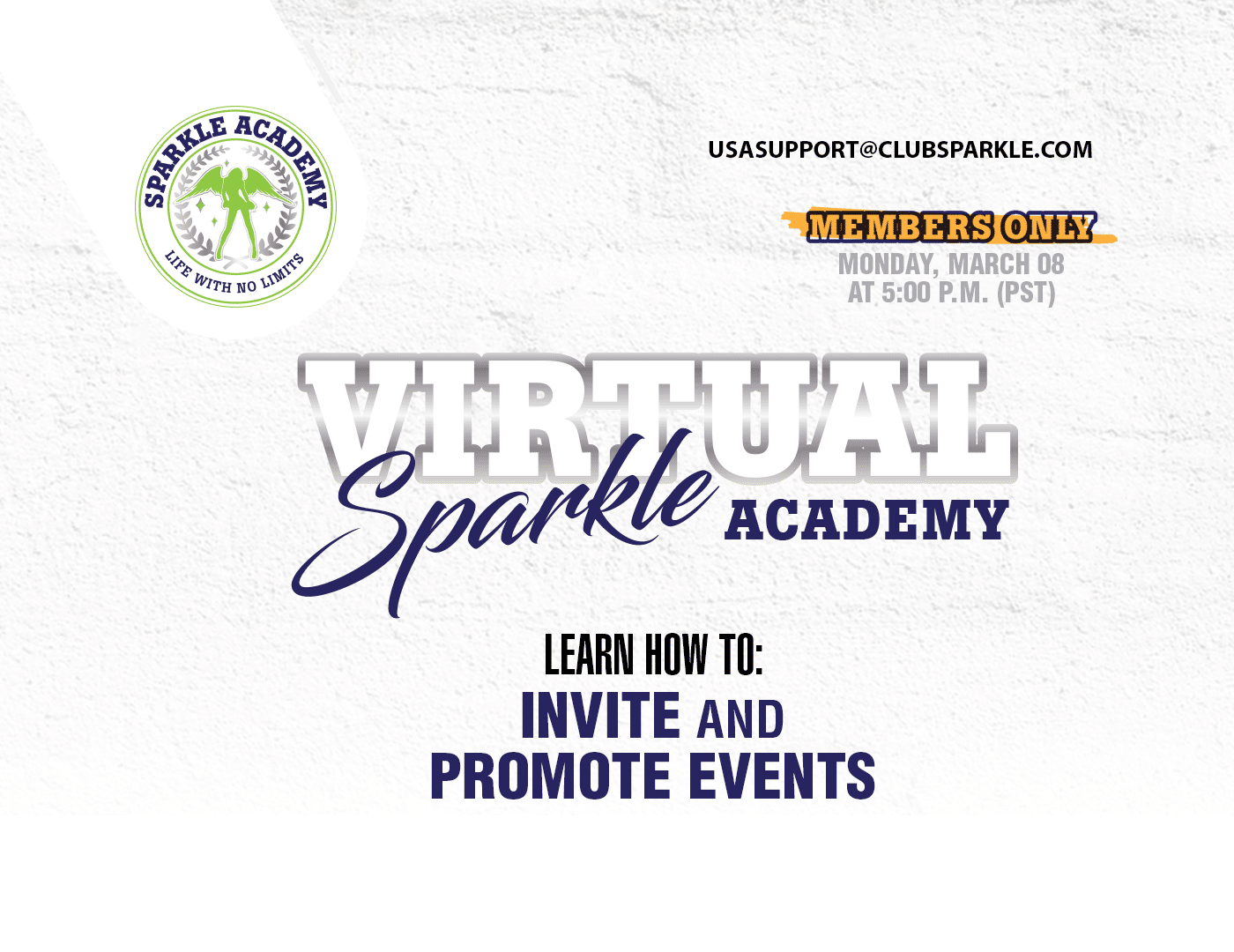 Virtual Sparkle Academy (Members Only)